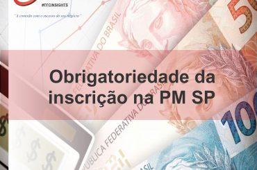 Obrigatoriedade da inscrição da PM de SP