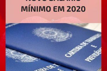 Novo Salário mínimo em 2020